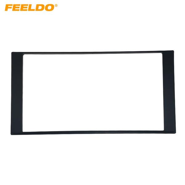 FEELDO 2Din Car Refitting DVD frame,DVD panel,Dash Kit,Audio frame for Nissan LIVINA/Sunny(N17)Almera/Versa/Renault Scala/Latio #1555