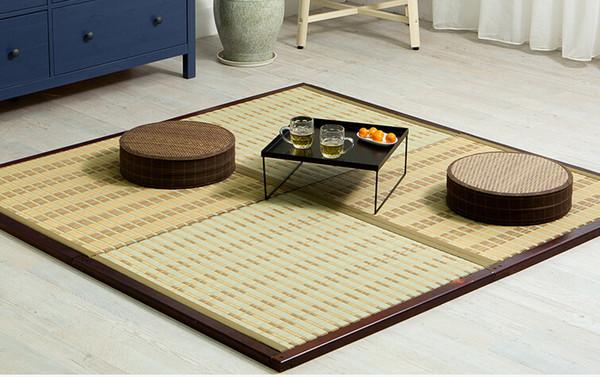 Großhandel Tm08 Diy Japanische Tatami Matten Einheits Quadrat 88cm Traditionelle Asiatische Entwurfs Zen Boden Matratzen Schlafen Platten Ausgangsanti