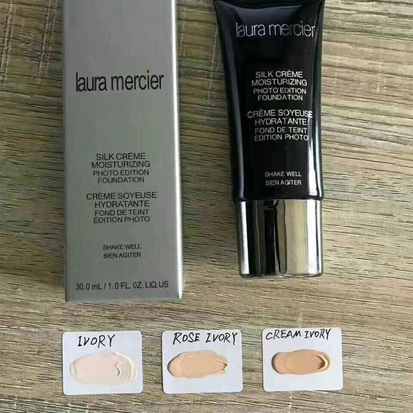 Laura Mercier Foundation Seda Crema Hidratante 3 Colores Maquillaje de Cara de Alta Calidad SPF 30ml Base Base Envío Gratis