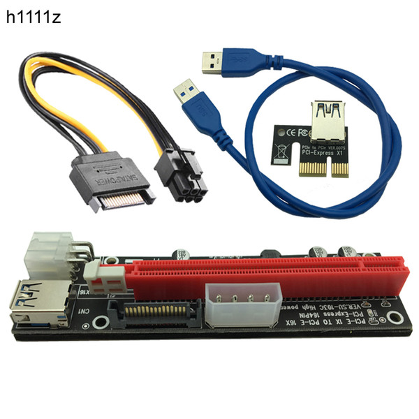 USB 3.0 Extender Flexible Cable PCIE PCI-E PCI Express 1X to 16X Riser Card SATA 4Pin 6Pin Power for Bitcoin BTC Miner Mining