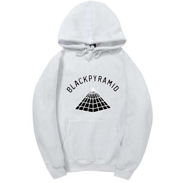 2017 Más Reciente Chris Brown PIRÁMIDE NEGRA Hip Hop Hoodies Hombres y Mujeres Sudaderas Monopatín Street Style Algodón Chándal Sudadera Con Capucha
