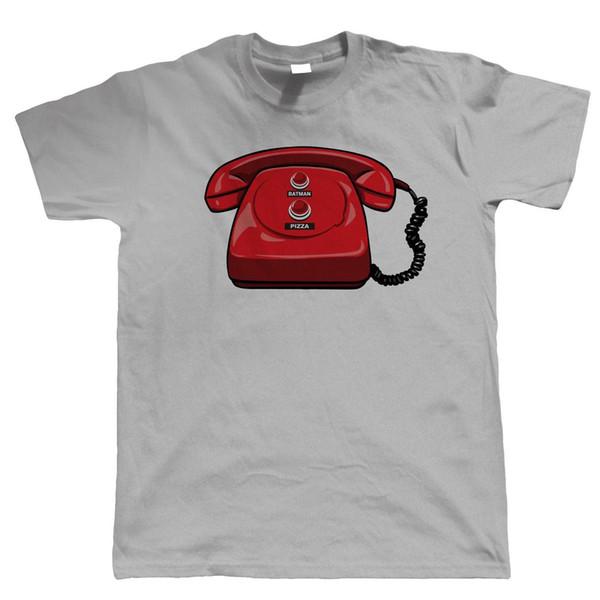 Bat Phone Mens lustige Superheld T-Shirt - Comic Cosplay Videospiel Geschenk für ihn