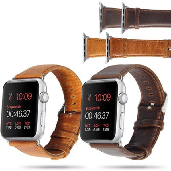 Pulseira para a apple iwatch 4 pulseira pulseira inteligente para série 1/2/3 42mm 38mm pulseira de substituição de couro genuíno sty135 com saco de opp