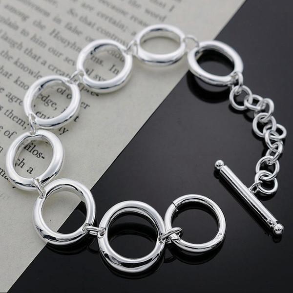 Fine 925 Sterling Silver Bracelet for Women Men,2018 Fashion 925 Silver O Chain 8inch Bracelet Italy New Arrival Xmas Best Gfit AH147