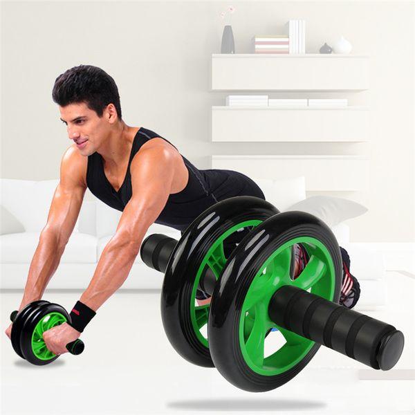 Nuevo Sin Ruido Verde Rueda Abdominal Ab Roller With Mat para Ejercicio Fitness Equipo de Gimnasio Accesorio Equipo de Gimnasia Gimnasio