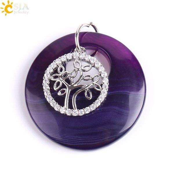 Purple Veins Agate