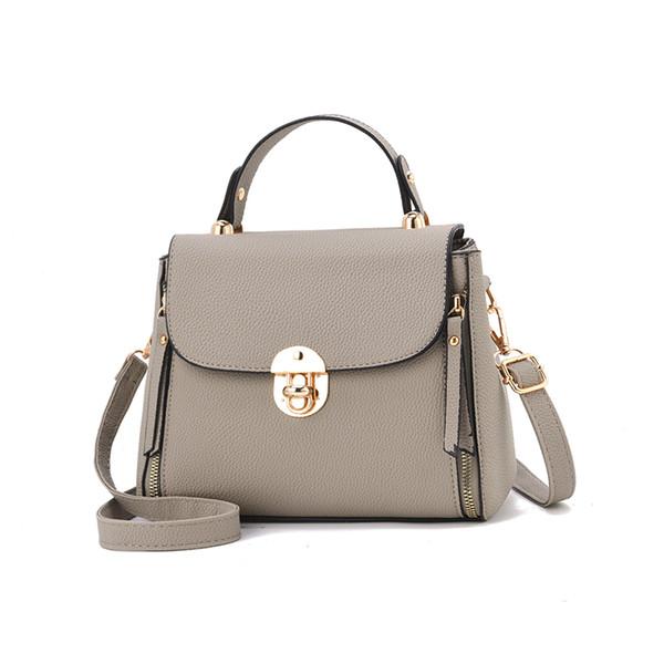 Großhandel 2018 Neue Mode Damen Handtasche Metallknopf Rotes Kleines Quadrat Frauen Umhängetasche Hochwertige Frauen Messenger Crossbody Tasche Von