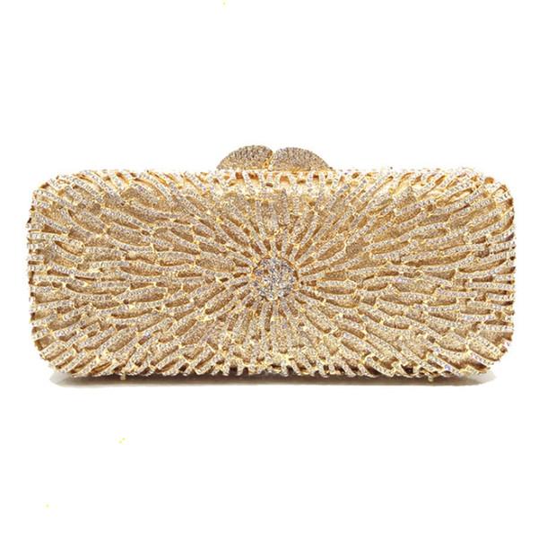 2018 New Fashion Handmade Diamante Pequeno Noite Embreagens Bag Mulheres Festa de Casamento Elegante de Cristal Sacos Femininos Evening Clutches
