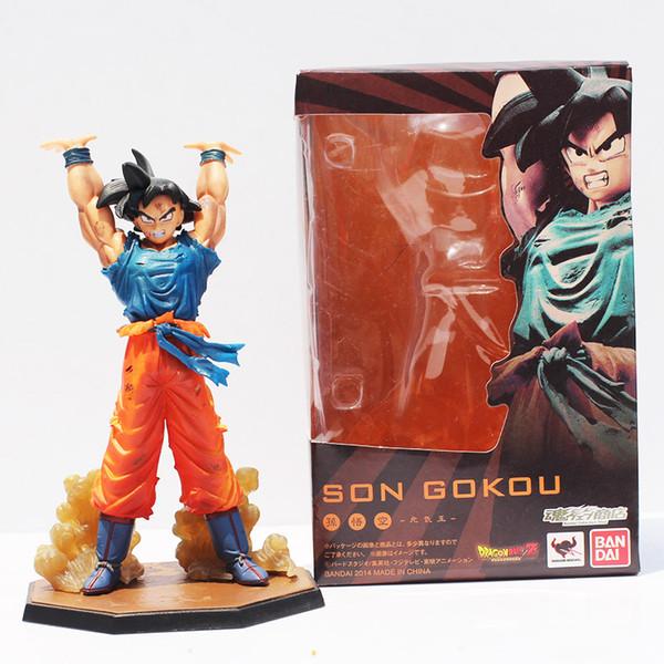 игрушки Бесплатной доставка розничного 1шт японского аниме Dragon Ball Z Сон Гоку Дух Bomb Ver ПВХ фигурка игрушка 16см Бесплатная доставка