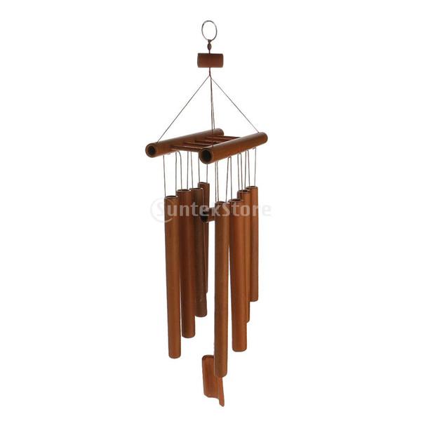Sal Dekor Windchimes Rüzgar Ahenge Bambu 8 Tüpler Asılı Süs Bahçe Ev