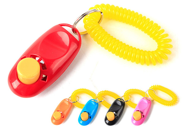 Pet Training Tool Remote Portable Animal Dog Button Clicker Sound Trainer Control Wrist Band Accessory
