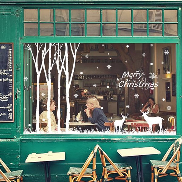 New Year Merry Christmas Wall Sticker Home Shop Windows Wall stickers Living Home Decor For Rooms