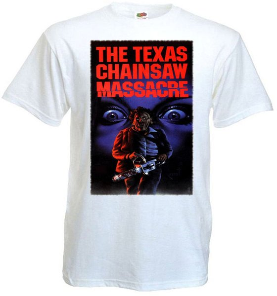 T Shirts For Sale Office Men O-Neck Short-Sleeve The Texas Chain Saw Massacre V18 T-Shirt All Sizes Sizes S To 3XL White Tee