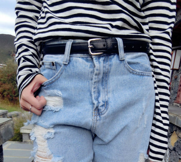 Harajuku Sexy Black Belt Female Unisex PU Leather Punk Waist Belts For Women Jeans Pants Fashion Clothes Accessory