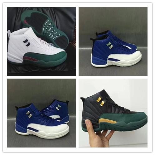 0d0b2e70f543 2018 New High Top 12s 12 Black Green Gold Mens Basketball Shoes Men Sports  Training Sneakers For Sale size 41-47