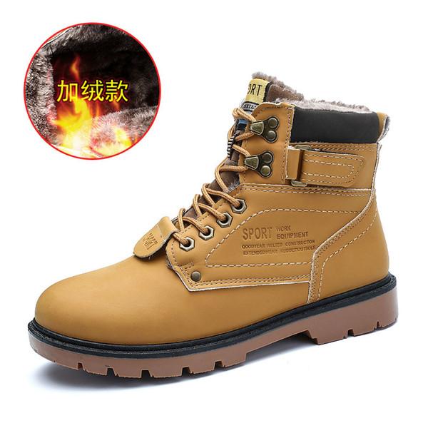 Sapatilhas Dos Homens de inverno Caminhadas Sapatos Manter Quente Alto Topo de Montanha de Escalada Botas Ao Ar Livre Esporte para Homens Macho Tamanho Grande 39-46