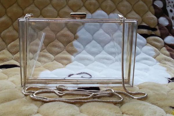 d9b5ae16f34ac Women Transparent Lace Acrylic Perspex Clutch Clear Purse Evening Bag  Handbag