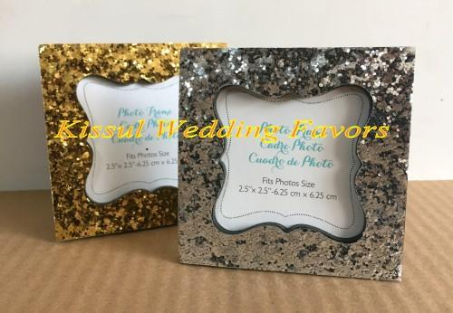 (20 Pcs/lot) Party Favors Sparkle and Shine Silver Glitter Photo Frames and card holders For Wedding Party decoration gifts