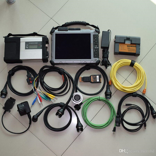 for mb star compact c5 with for bmw icom a2 b c with ix104 laptop touch screen table 2in1 auto diagnostic tool
