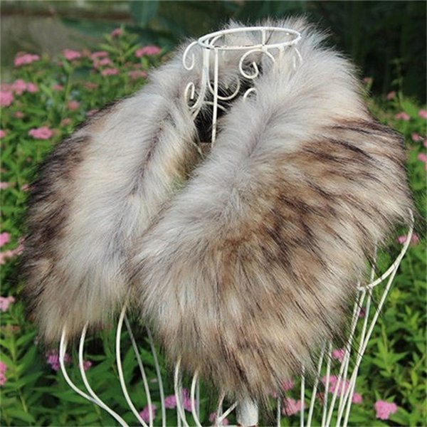 Artificial Fur Fake Fox Hair Scarf Lady Aristocratic Solid Color High Quality Scarves Winter Outdoor Warm Coat Collar 30px hh