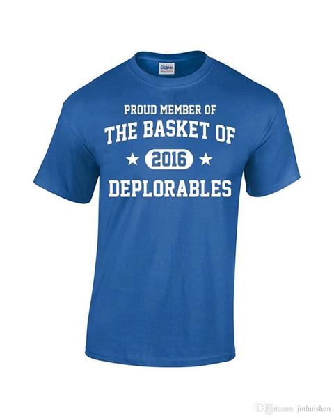 2018 New Arrivals Proud Member Of The Basket Of Deplorables Vote Trump 2016 T-Shirt Brand Clothing Men t shirt
