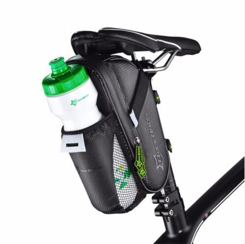 Rainproof Bike Bicycle Rear Bag With Water Bottle Pocket Bicycle Tail Bag Saddle Bag Reflective Pouch Bike Accessories