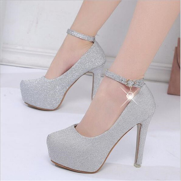 Women's Shoes New women's shoes stilettos rhinestones high heel pumps wedding prom silver Clothing, Shoes & Accessories