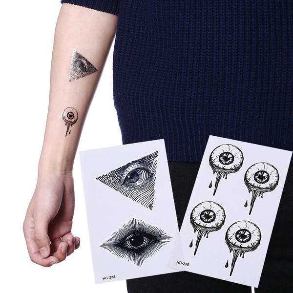 Unisex Fake Eye Waterproof Temporary Tattoos Sticker Totem Henna Tatoo Body Art Tattoo God' S Eye Flash Tattoo For Woman Men