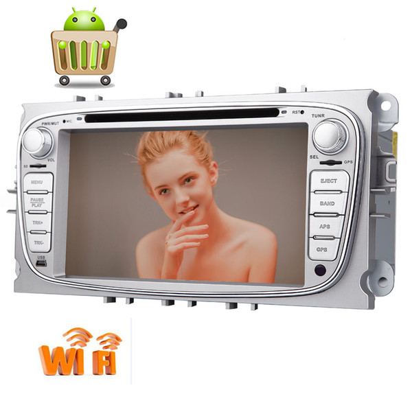 Android 6.0 Double 2 Din Car Stereo car DVD Player for Ford 7'' Touchscreen GPS Navigation Radio 1080P Bluetooth WiFi Mirrorlink Dual