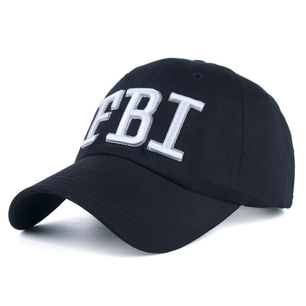 2018 FBI Caps Outdoor 5 Panel Baseball Cap Brand Snapback Hat Bone FBI Snapback For Men High Quality Tactical Cap Size 56-59cm