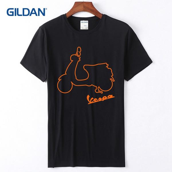 Funny Slogan T Shirts 2018 Vespa Outline Logo Mens Printed Tees Online Cotton Simple T shirts