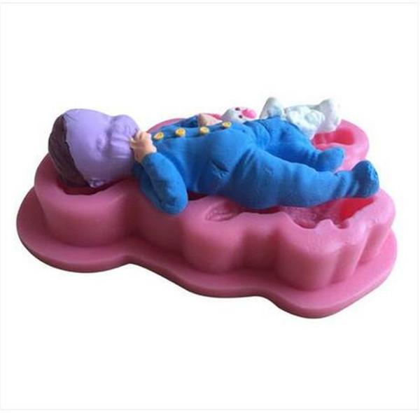 Schöne 3D Baby Form Fondant Kuchen Silikonform DIY Zucker Süßigkeiten Dekorieren Tools 3D Baby Form Fondant Kuchen Silikonform DIY Zucker