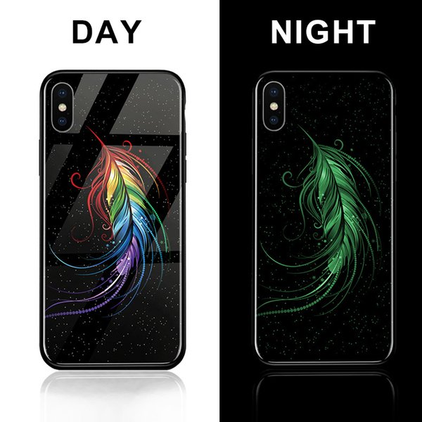 Best-selling Cool Custom Luminous Phone Case For iPhone Xs max Xr Xs DIY Personalized Design Tempered Glass Case for Samsung S9