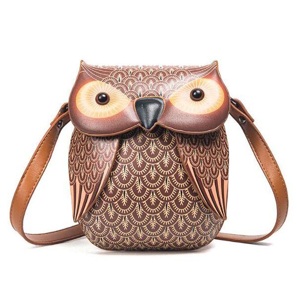 Hot New Cute Owl Shoulder Bag Purse Handbags Women Messenger Bags FOR Girls Cartoon with Crossbody Phone Bag Owl Sac A Main