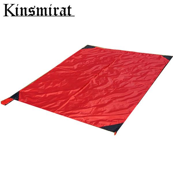 Tapis de camping en plein air bâche couverture couverture 140 * 152cm couverture pliante imperméable à l'eau pad pour pique-nique plage