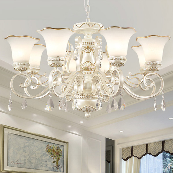 Nordic Chandeliers Modern Crystal Chandelier led Crystal Living Room Resin Light Fixture Vintage Staircase Hanging Lamp Glass pendant lamps