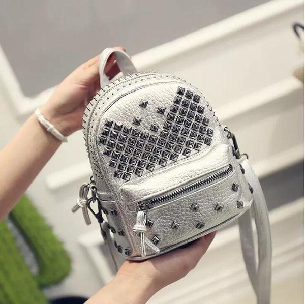 New Children Luxury Mini PU Leather Rivet Backpack Kids Boys Girls Fashion Casual Rucksack High Quality Leisure Shoudler Bags