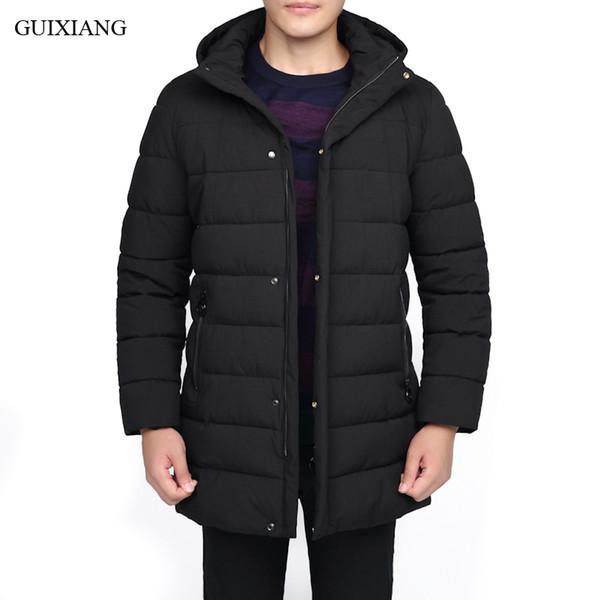 New Arrival Style Men Boutique Leisure Cotton Padded Clothes Business Casual Detachable Hat Men's Thick Warm Coat Size L-8XL