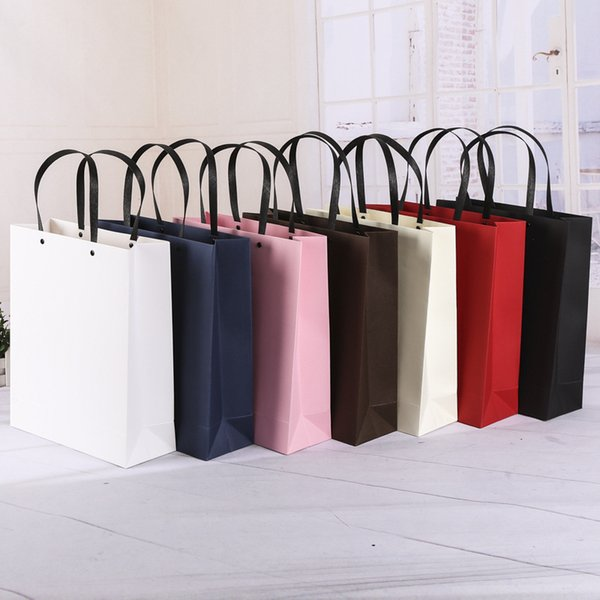 Manufacturers supply customized paper bags spot high-end clothing shopping gifts, handbags customized printing logo wholesale