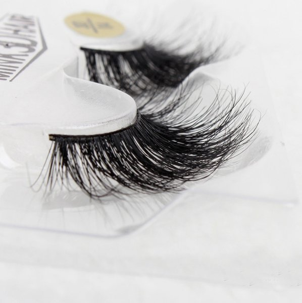 Pure Handmade Real Mink Eyelashes Natural Crisscross Curl Long false eyelash extension Nude makeup Tool Pre Design Full Strip Lashes Black S