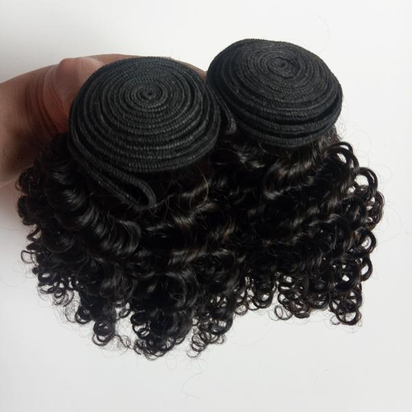 Cheap Virgin Kinky Curly Hair Weaving Indain Dyeable Bleachable Peruvian Human Hair Extensions Mongolian remy hair double weft 3Bundles
