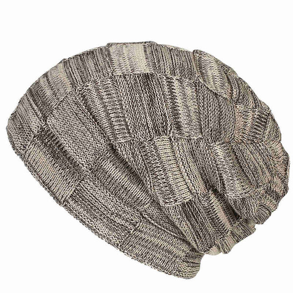 1PC Unisex Women's Winter Warm Casual Slouchy Hat Crochet Ski Beanie Hat Fashion Female Man Soft Baggy Skullies Beanies Men