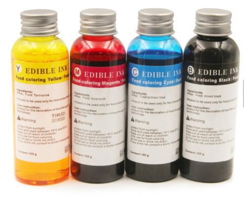 Beste Qualität 100ML500ML 1000ML Jede Flasche 4 Farben Nachfüllen Essbare Tinte Für HP 803 Kaffee Drucker