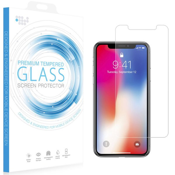 For iPhone Xs XR Tempered Glass Screen Protector Clear Transparent Film Premium 0.26mm 9H for iPhone Xs Max with Retail Box