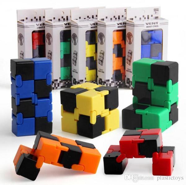 Fidget Infinity Cube fingertips Toy для декомпрессии тревожная игрушка новинка и кляп рабочий класс или домашние развлечения многоцветный выбор магии