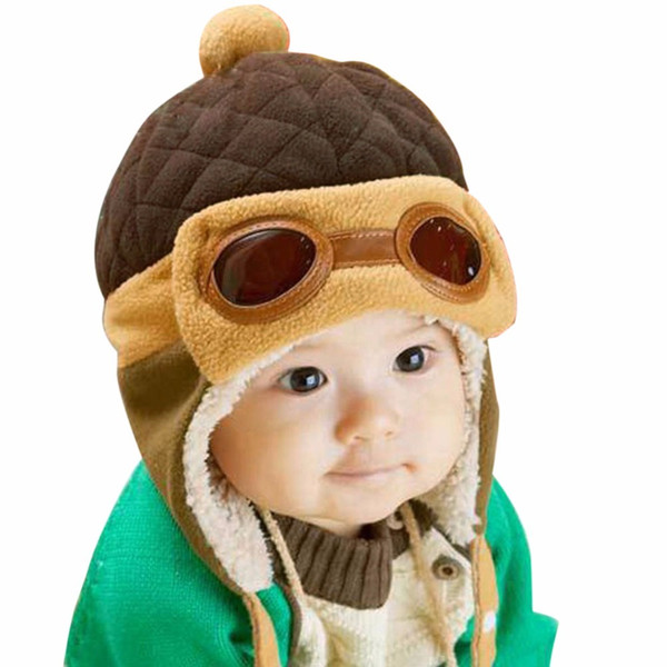 Baby Pilot Hat Toddlers Kids Cool Aviator Winter Warm Cap for Baby Boy Girl Infant Ear Flap Soft Hat Beanies