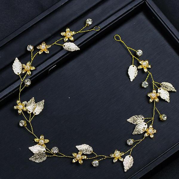 Bride Accessories Golden Leaf Hair Headline Wedding Dress Accessories Bride Accessories Women's Wedding Celebration Factory