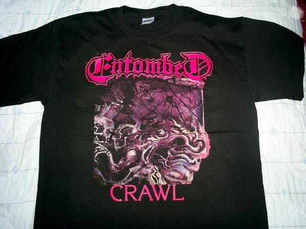 ENTOMBED camisa L Nihilist Unlimashed Disminar Carnificina Merciless Krux Mangas Curtas de Algodão Frete Grátis