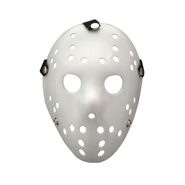 Máscara de Halloween Jason Voorhees Viernes 13a película de terror Hockey máscara blanca Scary Masquerade Costume Decor accesorios de Halloween FFA778