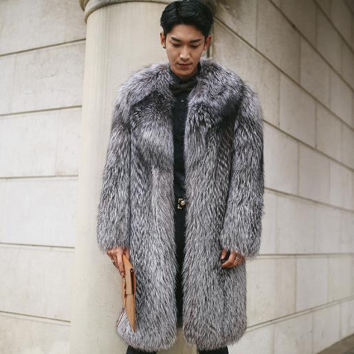 d84c420a776 Wholesale- Clobee Men faux fur Coats 2017 Winter Outwear Fake Fox Fur Long  Jackets Oversized 3XL 4XL 5XL Men s Thicken Warm Overcoats M749